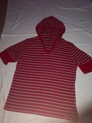 Cecil Koszulka z kapturem szary-czerwony Bawełna