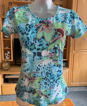 Boatneck Shirt turquoise