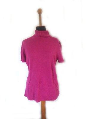 Damen Shirt Pink Gr. 44 gebraucht Second Hand kurz Strick Laura Scott