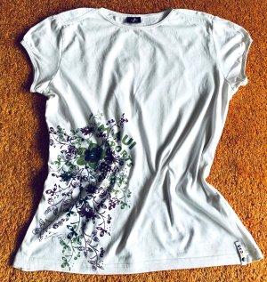 Damen Shirt Print Sommer Gr.M in Weiß von Maui NW