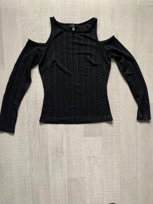 Koton Basic Shirt black-silver-colored