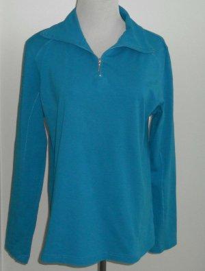 Damen Shirt /Sportshirt Gr. M (40/42) blau langarm Stretch von Shamp