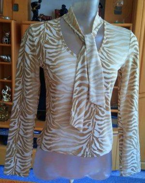 Damen Shirt Stretch leichte Bluse Gr.S in Beige von Xanaka NW