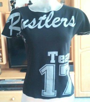 Damen Shirt Stretch  Print Gr.S in Schwarz von Progress