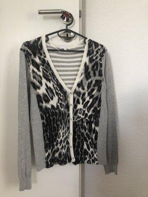 Damen Shirt Strickjacke Animal Print