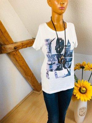 Damen Shirt T-shirt Oberteil Gr.M Multiblu