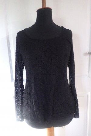 Damen Shirt transparent schwarz Gr. L gebraucht abstraktes Muster