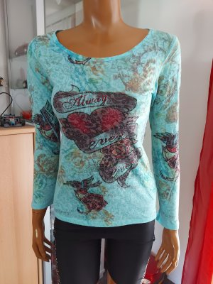 Damen Shirt türkis Größe 42/L