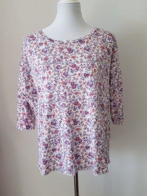 Damen Shirt weiß mit Blumenprint von ESPRIT Gr. M 38 Oversized