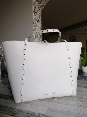 Armani Exchange Shopper white-silver-colored