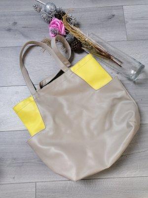 Primark Shopper gris-jaune fluo