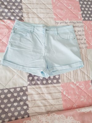 keine High-Waist-Shorts light blue
