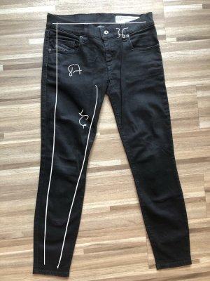 Damen slim-skinny jeans W24 L30