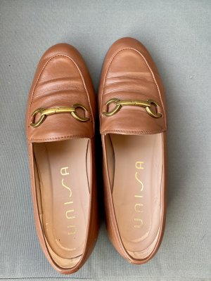 Damen Slipper, cognacfarben, Größe 39