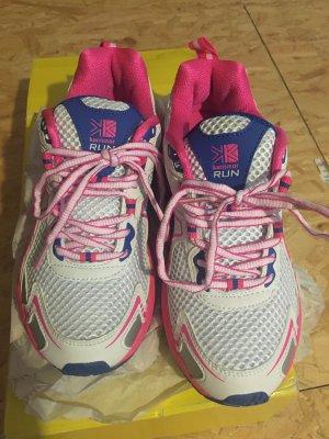 Zapatillas con tacón blanco-rosa