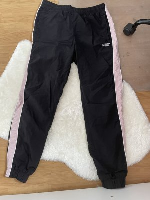Snipes Pantalone da ginnastica nero-rosa chiaro