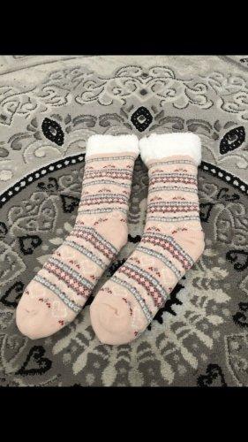 Ocieplacz na nogi biały-różany