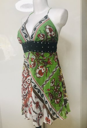 Damen Sommer Kleid Seide L Neu