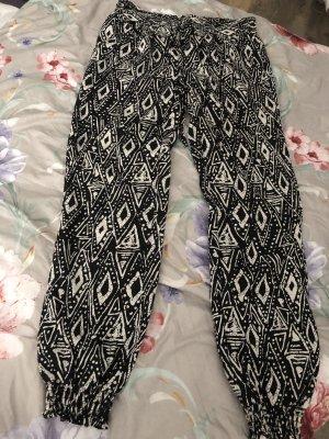 Linen Pants black-white