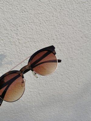 Vintage Round Sunglasses black-brown