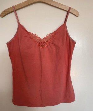 Manguun Top con bretelline rosso chiaro