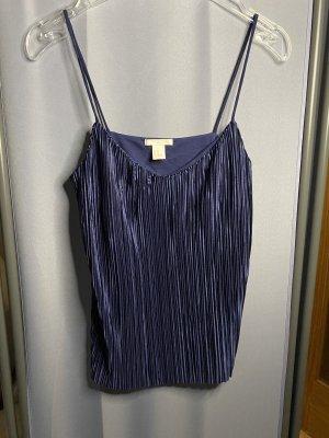H&M Spaghettibandtopje donkerblauw