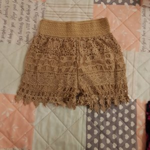Keine Liebe High-Waist-Shorts light brown
