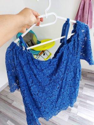C&A Blusa in merletto blu-blu acciaio