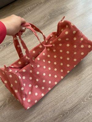 Bolso de viaje rosa-blanco puro