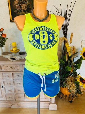 Monta Sports Shirt neon yellow-blue