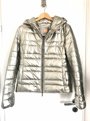 Boss Orange Quilted Jacket silver-colored polyamide