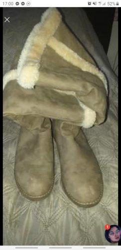 Deichmann Stivale in pelliccia beige