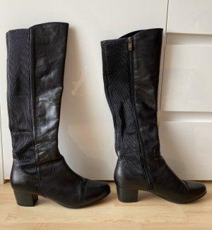 Damen Stiefel Benefit Leder Gr. 40 schwarz
