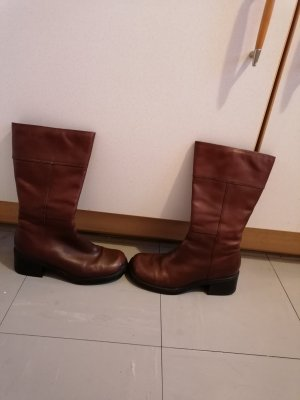 Janet D Fur Boots brown leather
