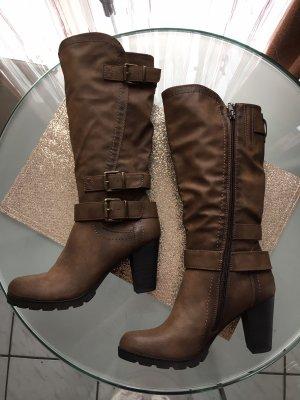 Damen Stiefel mit Reißverschluss 8,5cm Absatz größe 40 *neu*