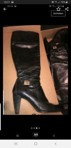 Tommy Hilfiger Laarzen met hoge hakken donkerbruin