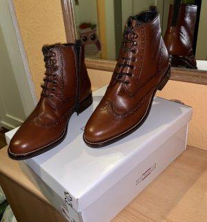 """Damen Stiefelette /Boots """"5the Avenue """" echtes Leder Braun Gr 37"""