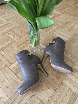 Damen Stiefelette - Grey/Taupe/Gold - Größe 37 - Stiletto
