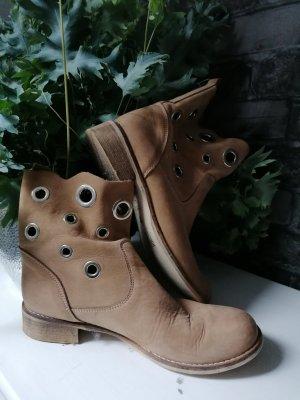 Ohne Slip-on Booties light brown