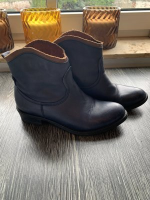Tamaris Botas deslizantes azul oscuro-marrón
