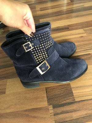 Damen Stiefeletten Stiefel Winterstiefel Boots Schuhe Blau Gr.38-38.5