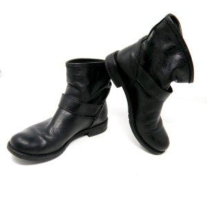 Botines slouch negro Cuero