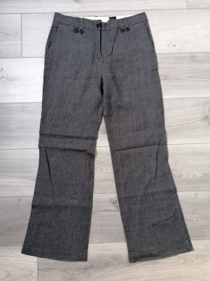 H&M Pantalon en lin gris foncé