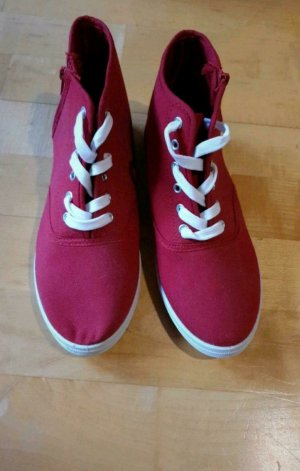 Jumex Wysokie trampki czerwony