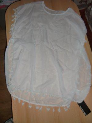 Tenue de plage blanc polyester