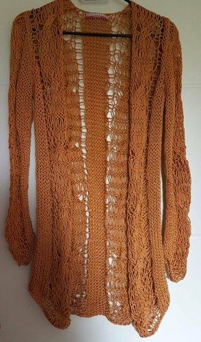 Stefanel Cardigan in maglia arancione scuro Cotone