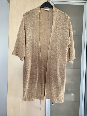 Vila Knitted Cardigan gold-colored-oatmeal
