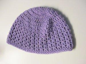 Gorro tejido púrpura