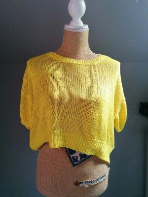 H&M Koszulka z dzianiny żółty neonowy
