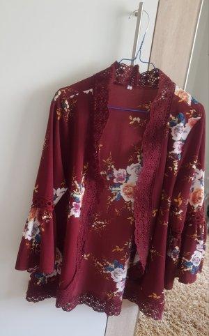 1 brand Veste en tricot rouge foncé